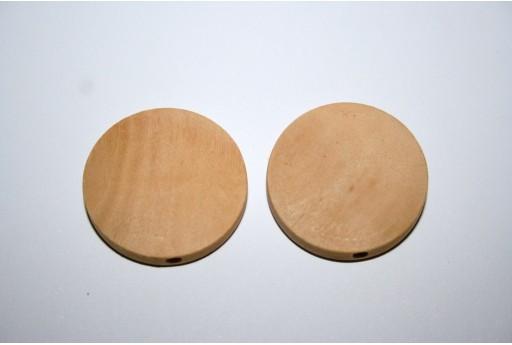 Perline Legno da Rivestire Pasticca 25mm - 8pz