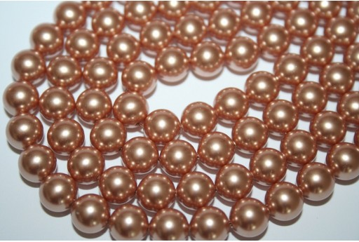 Swarovski Pearls Rose Gold 5810 8mm - 8pcs