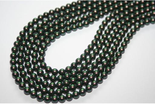 Perle Swarovski Scarabaeus Green 5810 4mm - 20pz