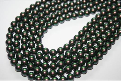 Perle Swarovski 5810 Scarabaeus Green 6mm - 12pz