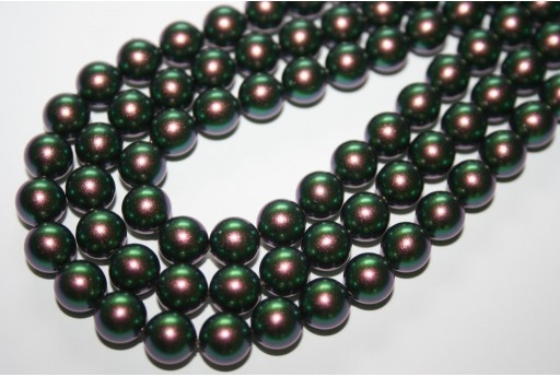 Swarovski Pearls Scarabaeus Green 5810 8mm - 8pcs