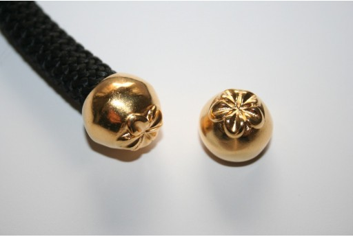 Climbing Gold Flower Cord End 15,7x13mm - 1pc