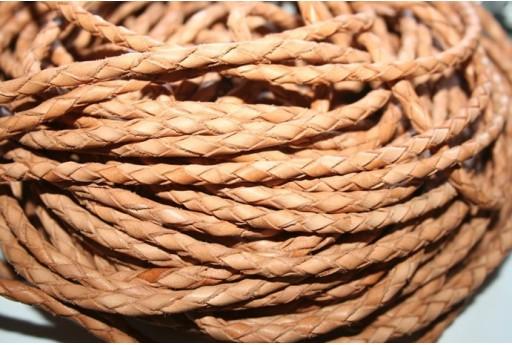 Filo di Cuoio Intrecciato Naturale 5mm - 20cm