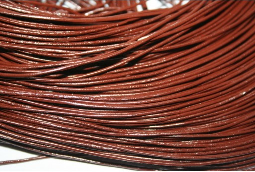 Leather Cord 1mm Brown - 2m