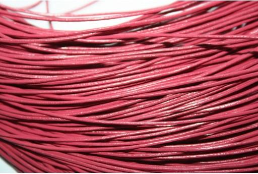 Leather Cord 1mm Fuchsia - 2m