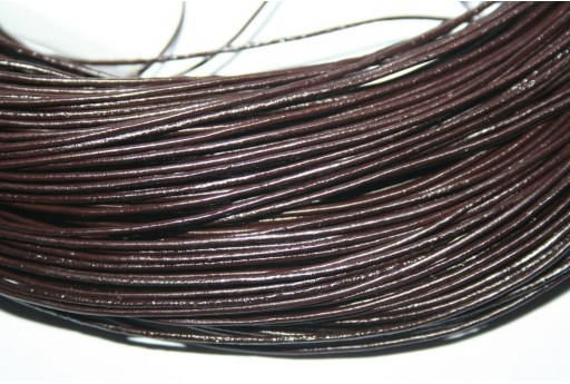Leather Cord 1mm Dark Brown - 2m