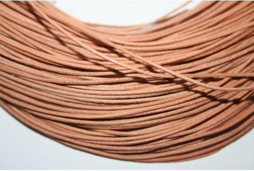 Leather Cord 1mm Light Brown - 2m