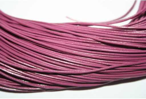Leather Cord 1mm Dark Pink - 2m