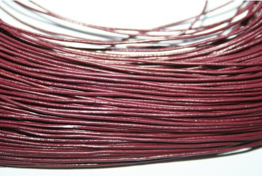 Filo di Cuoio Bordeaux 1mm - 2mt