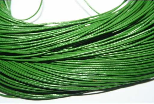 Leather Cord 1mm Green - 2m