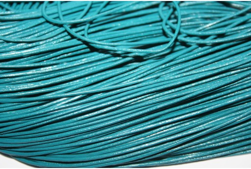 Leather Cord 1mm Turquoise - 2m
