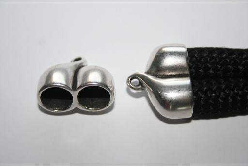Componente Climbing Tappo Argento 2 Corde 25x20mm