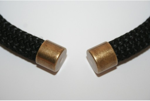 Climbing Bronze Cord End Cap 10x12mm - 1pc