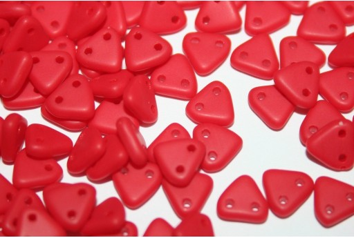 Triangle Beads Matte-Opaque Red 6mm - 8gr