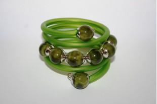 Perline di Ceramica Verde Oliva Tondo 14mm - 4pz
