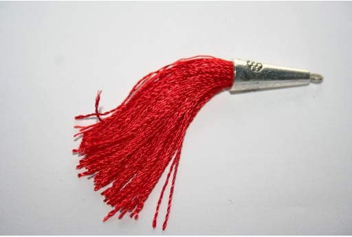 Nappina in Cotone Rosso 9x80mm - 1pz