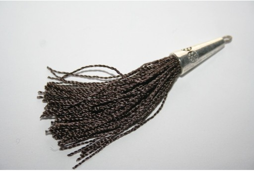 Cotton Tassel 9x80mm Brown - 1pc