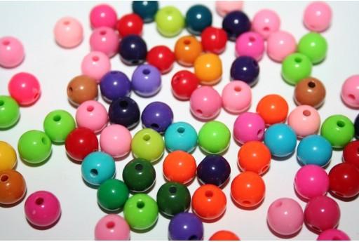 Perline in Acrilico Mix Color Sfera 8mm - 200pz.