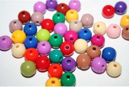 Perline in Acrilico Mix Color Sfera 10mm - 150pz.
