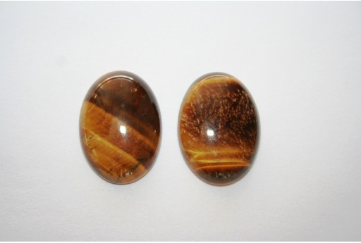 Cabochon Tiger's Eye Oval 18x25mm - 1pz