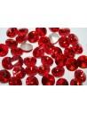 Cabochon Tondo Cristallo Rosso Chiaro 14mm - 4pz