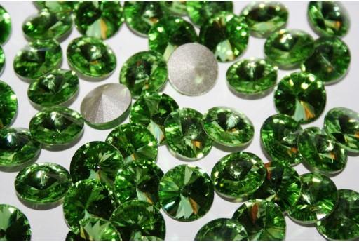Cabochon Tondo Cristallo Verde Chiaro 14mm - 4pz