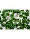Glass Cabochon Crystal Round Light Green 14mm - 4pz