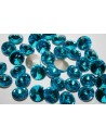 Glass Cabochon Crystal Round Aquamarine 14mm - 4pz