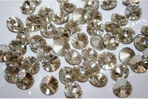 Glass Cabochon Crystal Round Crystal 12mm - 6pz