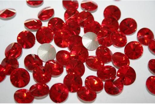 Cabochon Tondo Cristallo Rosso 12mm - 4pz