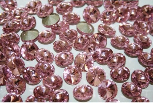 Cabochon Tondo Cristallo Rosa Chiaro 12mm - 4pz