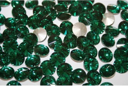 Cabochon Tondo Cristallo Verde 12mm - 4pz