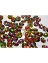 Glass Cabochon Crystal Round Multicolor 12mm - 4pz