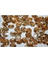 Glass Cabochon Crystal Round Gold 12mm - 4pz