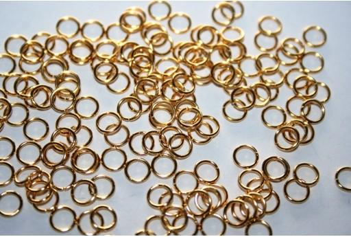 Anellini Acciaio Aperti Colore Oro 5x0,7mm - 10pz