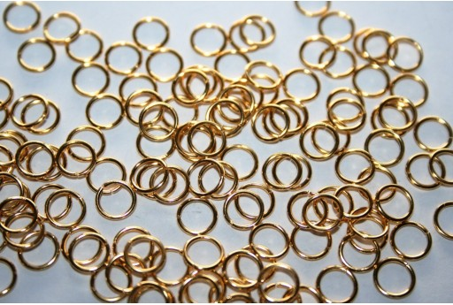 Gold Plated Steel Jump Rings 6x0,7mm - 10pcs