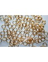 Gold Plated Steel Jump Rings 6x0,8mm - 10pcs