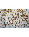 Gold Plated Steel Jump Rings 8x0,8mm - 15pcs