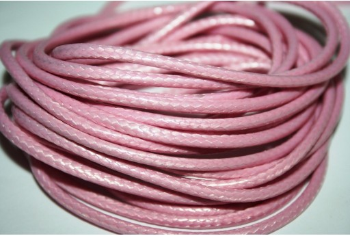 Waxed Polyester Cord 1mm, 12mt. Pink MIN125B