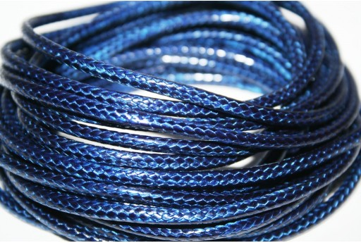 Waxed Polyester Cord 1mm, 12mt. Blue MIN125G