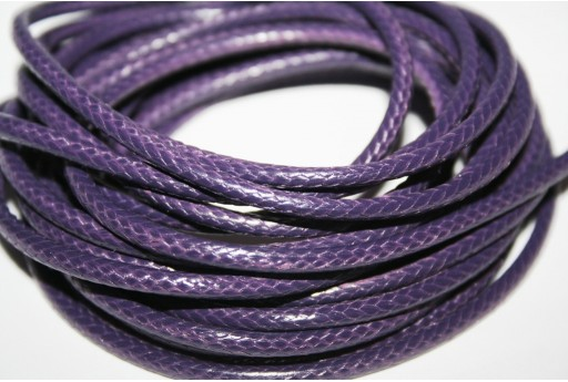 Waxed Polyester Cord 1mm, 12mt. Purple MIN125L