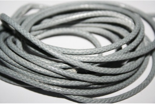 Waxed Polyester Cord 1mm, 12mt. Grey MIN125N