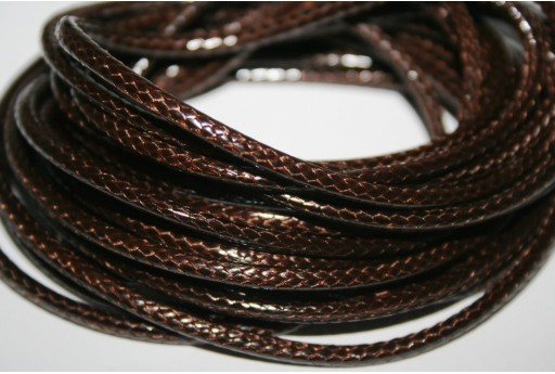 Waxed Polyester Cord 1mm, 12mt. Brown MIN125P