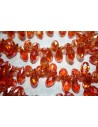 Perline Cristallo Gocce Arancio 13x6mm - 15pz