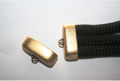 Climbing 3 Strand Bronze Cord End 17x34mm - 1pc
