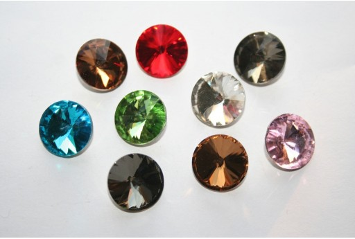 Glass Cabochon Crystal Mix Color 14mm - 18pz