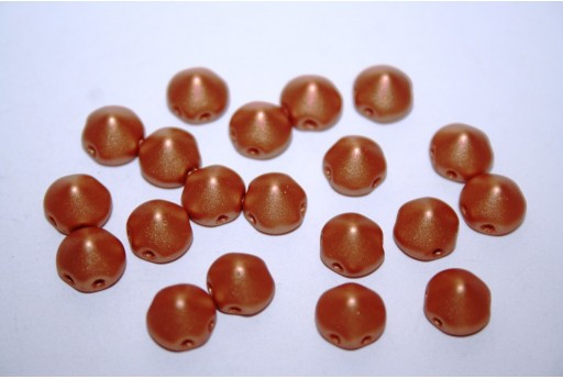 Perline Tipp Beads Metallic Copper 8mm - 20pz