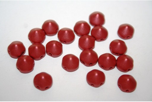 Perline Tipp Beads Metallic Red 8mm - 20pz