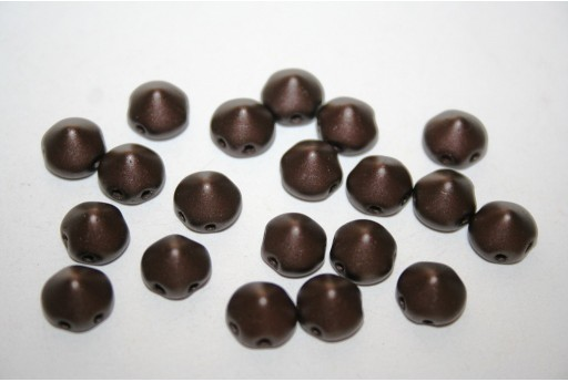 Perline Tipp Beads Pastel Dark Brown 8mm - 20pz