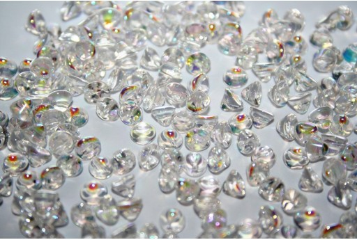 Perline Button Bead Crystal AB 4mm - 50pz